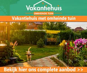 Vakantiehuis omheinde tuin banner